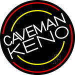 Caveman Keno 5 Neon Sign