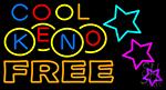 Cool Keno Free 1 LED Neon Sign