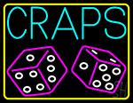 Craps With Dies 1 Neon Sign