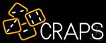Craps With Hand Logo 1 Neon Sign
