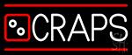 Craps With Hand Logo 2 Neon Sign