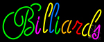 Cursive Letter Billiards 1 Neon Sign