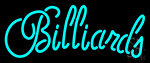 Cursive Letter Billiards 2 Neon Sign