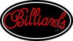 Cursive Letter Billiards 3 Neon Sign