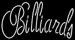 Cursive Letter Billiards Neon Sign