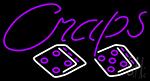 Cursive Letter Craps 1 Neon Sign