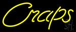 Cursive Letter Craps 3 Neon Sign