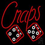 Cursive Letter Craps Neon Sign