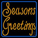 Cursive Seasons Greetings1 LED Neon Sign