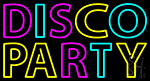 Disco Party 3 Neon Sign