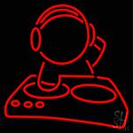 Dj Playing LED Neon Sign