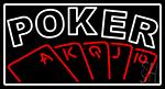 Double Storke Poker 1 LED Neon Sign