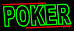 Double Storke Poker 3 Neon Sign