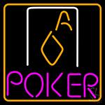 Double Storke Poker 4 LED Neon Sign