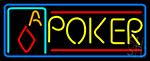 Double Storke Poker 5 LED Neon Sign