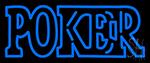Double Storke Poker LED Neon Sign
