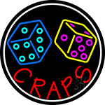 Double Stroke Craps With Dise 1 LED Neon Sign