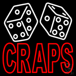 Double Stroke Craps With Dise 2 LED Neon Sign