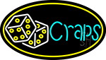 Double Stroke Craps With Dise 4 LED Neon Sign