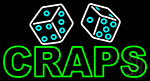Double Stroke Craps With Dise LED Neon Sign