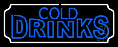 Rectangle Cold Drinks LED Neon Sign
