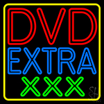 Dvd Extra Xxx 2 LED Neon Sign