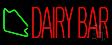 Red Dairy Bar LED Neon Sign