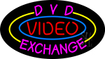 Dvd Video Exchanged 1 LED Neon Sign