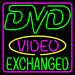 Dvd Video Exchanged 2 LED Neon Sign