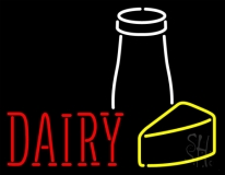 Red Dairy LED Neon Sign