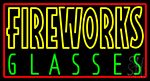 Fire Work Glasses 1 Neon Sign