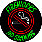 Fire Works No Smoking With Logo 2 Neon Sign