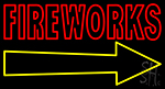 Fireworks With Arrow Neon Sign