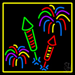 Fire Work With Multi Color 1 Neon Sign
