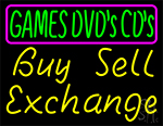 Games Dvds Cds Buy Sell Exchange 1 LED Neon Sign