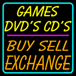 Games Dvds Cds Buy Sell Exchange 2 LED Neon Sign