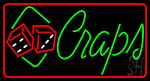 Green Craps Dice LED Neon Sign
