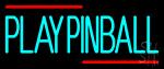 Green Play Pinball 1 LED Neon Sign