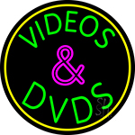 Green Videos And Dvds 2 LED Neon Sign