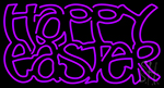 Happy Easter 2 LED Neon Sign