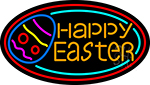 Happy Easter Egg 2 Neon Sign