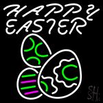 Happy Easter Egg 4 LED Neon Sign