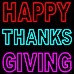 Happy Thanksgiving Block LED Neon Sign