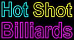 Hot Shot Billiards 1 LED Neon Sign