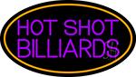 Hot Shot Billiards 4 LED Neon Sign