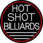 Hot Shot Billiards 5 LED Neon Sign