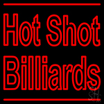 Hot Shot Billiards Neon Sign