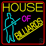 House Of Billiards 1 LED Neon Sign