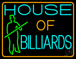 House Of Billiards 3 LED Neon Sign