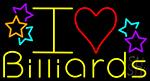 I Love Billiards 1 LED Neon Sign